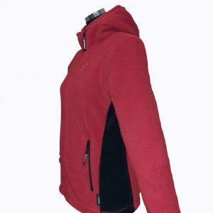 Jacheta din Polartec pentru femei, rosu, model Hoodie