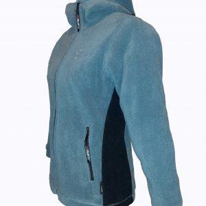 Jacheta din Polartec pentru femei, gri, model Hoodie