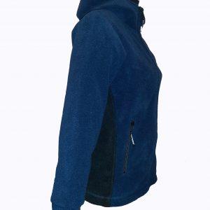 Jacheta din Polartec pentru femei, bleumarin, model Hoodie