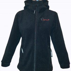 Jacheta din Polartec pentru femei, negru, model Hoodie